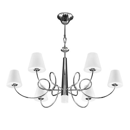 Подвесная люстра Lightstar Vortico 814274, 6xG9x40W +  1xG9x25W, хром, белый, металл, стекло