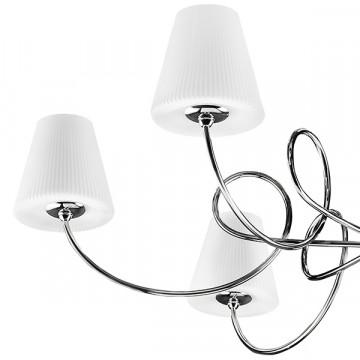Подвесная люстра Lightstar Vortico 814274, 6xG9x40W +  1xG9x25W, хром, белый, металл, стекло - миниатюра 3
