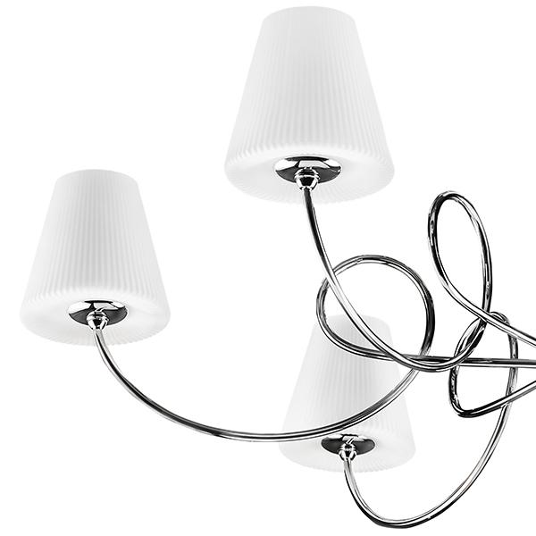 Подвесная люстра Lightstar Vortico 814274, 6xG9x40W +  1xG9x25W, хром, белый, металл, стекло - фото 3