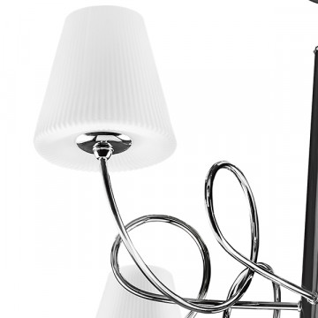 Подвесная люстра Lightstar Vortico 814274, 6xG9x40W +  1xG9x25W, хром, белый, металл, стекло - миниатюра 5