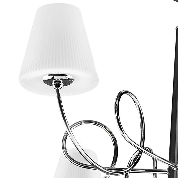 Подвесная люстра Lightstar Vortico 814274, 6xG9x40W +  1xG9x25W, хром, белый, металл, стекло - фото 5