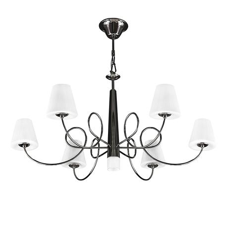 Подвесная люстра Lightstar Vortico 814277, 6xG9x40W +  1xG9x25W, черный, белый, металл, стекло