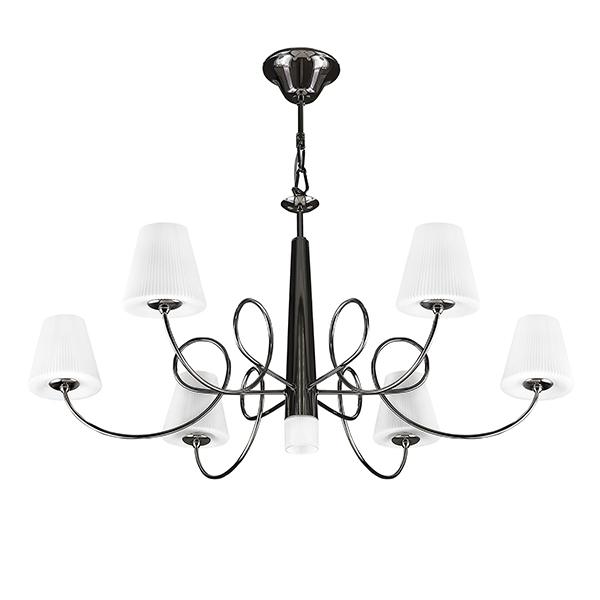 Подвесная люстра Lightstar Vortico 814277, 6xG9x40W + 1xG9x25W, черный, белый, металл, стекло - фото 1