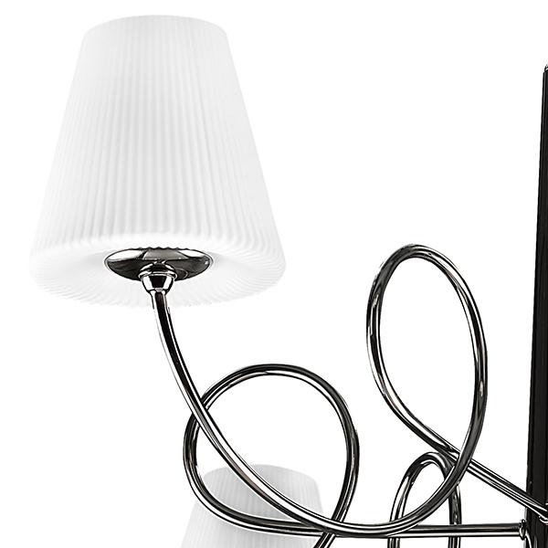 Подвесная люстра Lightstar Vortico 814277, 6xG9x40W + 1xG9x25W, черный, белый, металл, стекло - фото 2