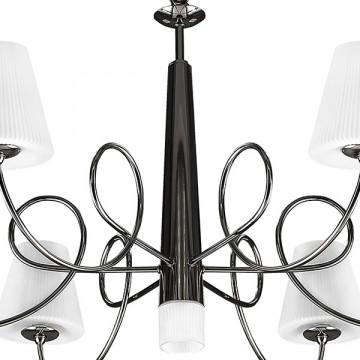 Подвесная люстра Lightstar Vortico 814277, 6xG9x40W + 1xG9x25W, черный, белый, металл, стекло - миниатюра 4