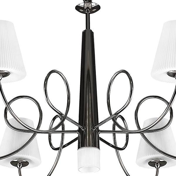 Подвесная люстра Lightstar Vortico 814277, 6xG9x40W + 1xG9x25W, черный, белый, металл, стекло - фото 4