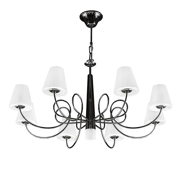 Подвесная люстра Lightstar Vortico 814297, 8xG9x40W + 1xG9x25W, черный, белый, металл, стекло - фото 1