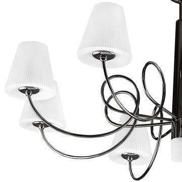 Подвесная люстра Lightstar Vortico 814297, 8xG9x40W + 1xG9x25W, черный, белый, металл, стекло - миниатюра 7