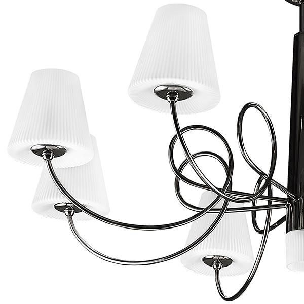 Подвесная люстра Lightstar Vortico 814297, 8xG9x40W + 1xG9x25W, черный, белый, металл, стекло - фото 7