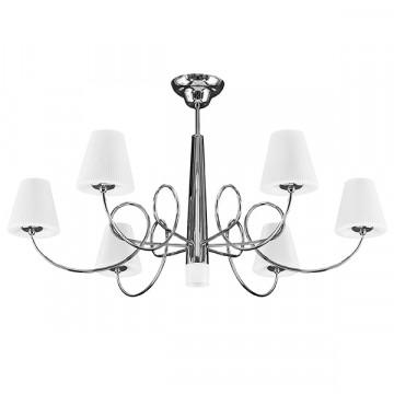 Потолочная люстра Lightstar Vortico 814074, 6xG9x40W +  1xG9x25W, хром, белый, металл, стекло