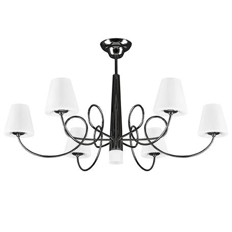 Потолочная люстра Lightstar Vortico 814077, 6xG9x40W +  1xG9x25W, черный, белый, металл, стекло