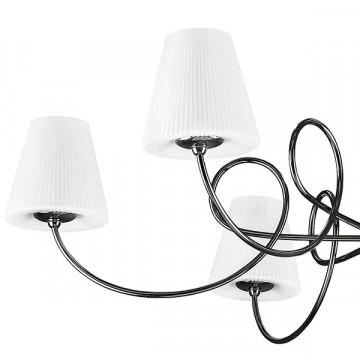Потолочная люстра Lightstar Vortico 814077, 6xG9x40W + 1xG9x25W, черный, белый, металл, стекло - миниатюра 2