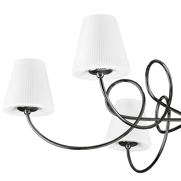 Потолочная люстра Lightstar Vortico 814077, 6xG9x40W + 1xG9x25W, черный, белый, металл, стекло - фото 2