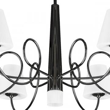 Потолочная люстра Lightstar Vortico 814077, 6xG9x40W + 1xG9x25W, черный, белый, металл, стекло - миниатюра 4