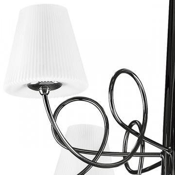 Потолочная люстра Lightstar Vortico 814077, 6xG9x40W + 1xG9x25W, черный, белый, металл, стекло - миниатюра 6