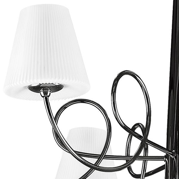 Потолочная люстра Lightstar Vortico 814077, 6xG9x40W + 1xG9x25W, черный, белый, металл, стекло - фото 6
