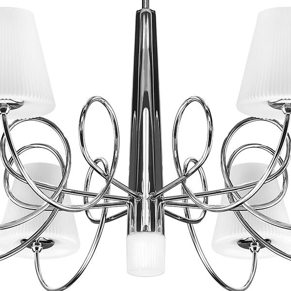 Потолочная люстра Lightstar Vortico 814094, 8xG9x40W +  1xG9x25W, хром, белый, металл, стекло - фото 4