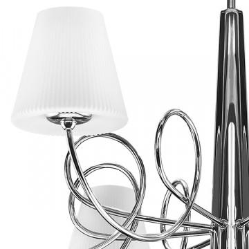 Потолочная люстра Lightstar Vortico 814094, 8xG9x40W +  1xG9x25W, хром, белый, металл, стекло - миниатюра 6