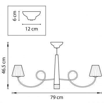 Схема с размерами Lightstar 814094