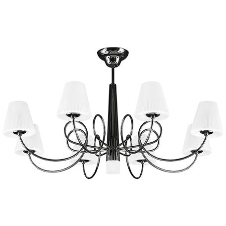 Потолочная люстра Lightstar Vortico 814097, 8xG9x40W +  1xG9x25W, черный, белый, металл, стекло