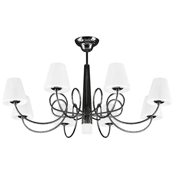 Потолочная люстра Lightstar Vortico 814097, 8xG9x40W + 1xG9x25W, черный, белый, металл, стекло - фото 1