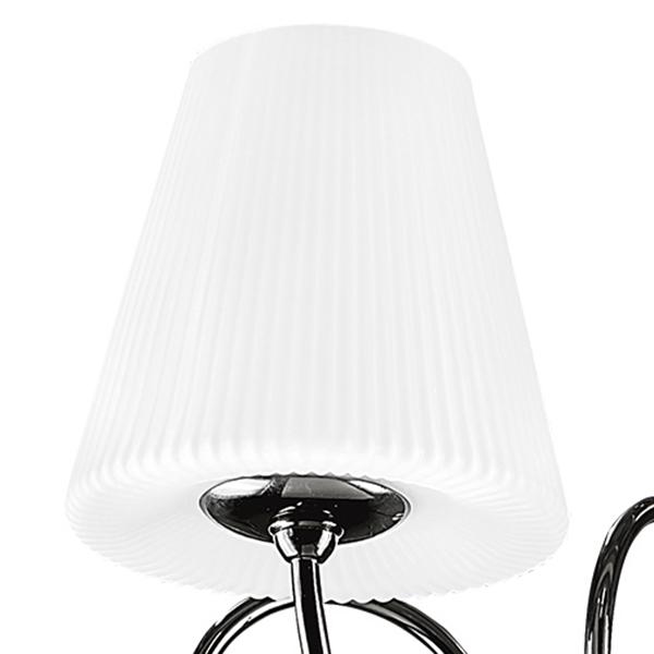 Потолочная люстра Lightstar Vortico 814097, 8xG9x40W + 1xG9x25W, черный, белый, металл, стекло - фото 5