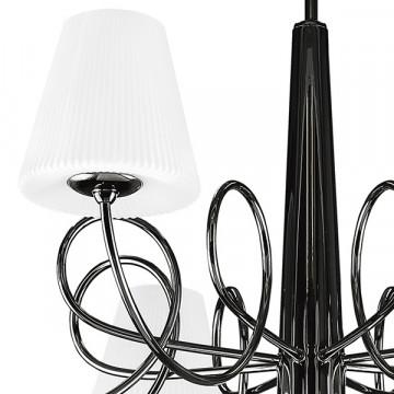 Потолочная люстра Lightstar Vortico 814097, 8xG9x40W + 1xG9x25W, черный, белый, металл, стекло - миниатюра 7