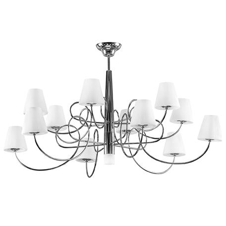 Потолочная люстра Lightstar Vortico 814134, 13xG9x40W, хром, белый, металл, стекло