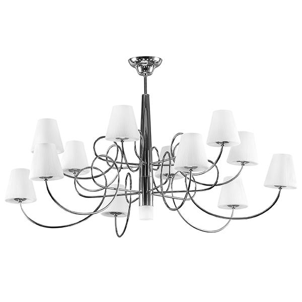 Потолочная люстра Lightstar Vortico 814134, 13xG9x40W, хром, белый, металл, стекло - фото 1