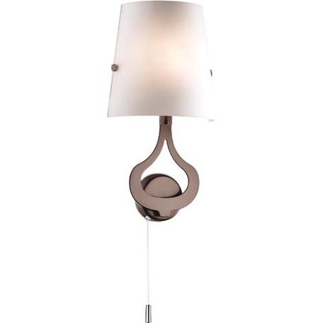 Бра Odeon Light Tiara 2185/1W, 1xE14x40W, коричневый, белый, металл, стекло