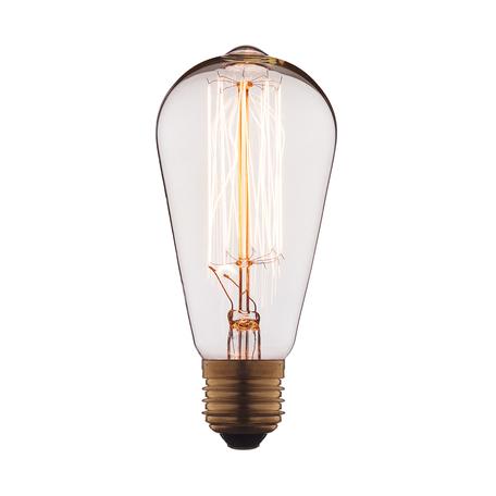 Лампа накаливания Loft It Edison Bulb 1008 прямосторонняя груша E27 60W 220V, гарантия нет гарантии
