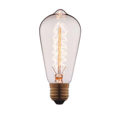 Лампа накаливания Loft It Edison Bulb 6460-S прямосторонняя груша E27 60W 220V, гарантия нет гарантии