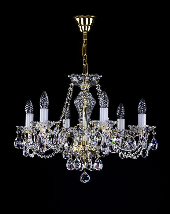 Подвесная люстра Artglass CASSIDY VI. CE, 6xE14x40W, стекло, хрусталь Artglass Crystal Exclusive - фото 1