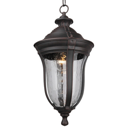 Подвесной светильник L'Arte Luce Jersey L79301.12, IP44, 1xE27x60W, коричневый, прозрачный, пластик, стекло