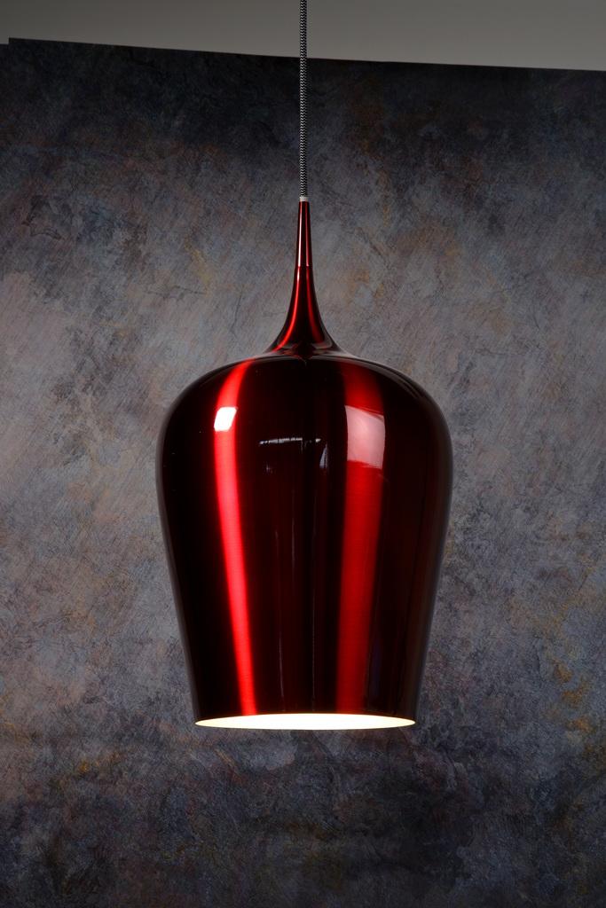 Подвесной светильник Lucide Petra 31429/25/32, 1xE27x60W, красный, металл - фото 2