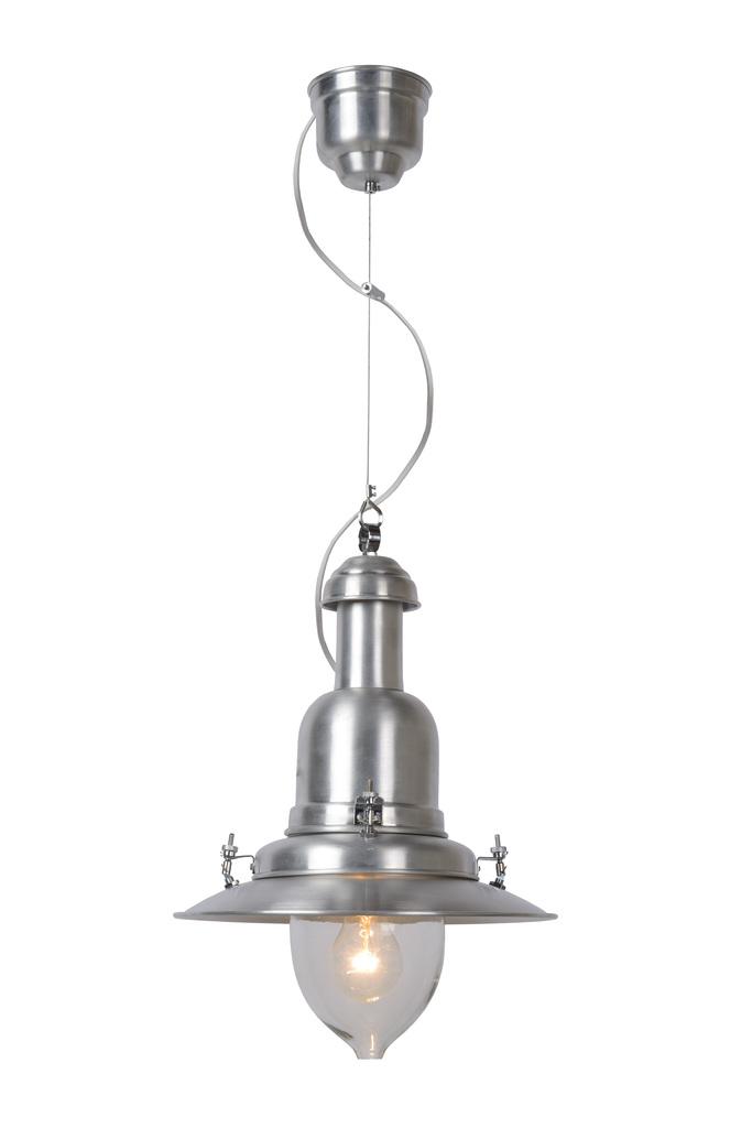 Подвесной светильник Lucide Osta 55306/30/12, 1xE27x60W, серебро, прозрачный, металл, металл со стеклом - фото 1