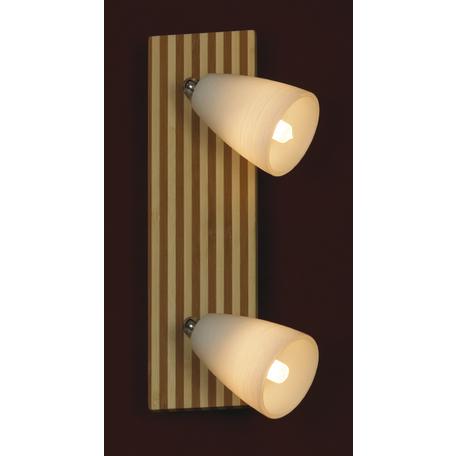 Потолочный светильник Lussole Monticello LSN-4801-02, 2xG9x40W, коричневый, белый, дерево, стекло