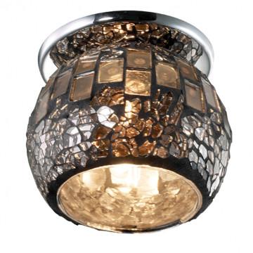 Встраиваемый светильник Novotech Vitrage 369556, 1xG9x40W, хром, зеркальный, металл, стекло