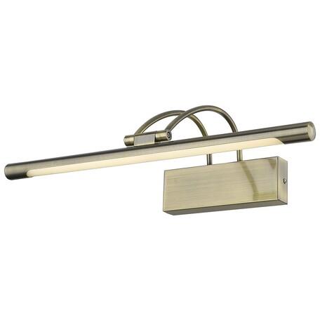 Настенный светодиодный светильник Velante 208-501-01, LED 9W 4000K, бронза, металл