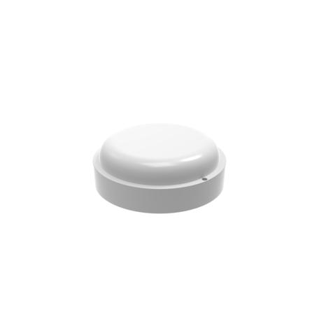 Настенный светодиодный светильник Gauss Eco 126411312, IP65, LED 12W 6500K 980lm CRI>75, белый, пластик