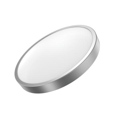 Потолочный светодиодный светильник Gauss Фрисби с декоративным съемным кольцом 941421118, LED 18W 2700K 1200lm CRI>90, серебро, металл со стеклом/пластиком