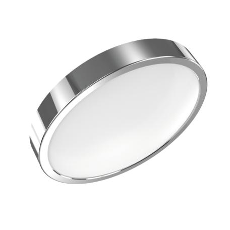 Потолочный светодиодный светильник Gauss Фрисби с декоративным съемным кольцом 941422112, LED 12W 2700K 850lm CRI>90, хром, металл со стеклом/пластиком