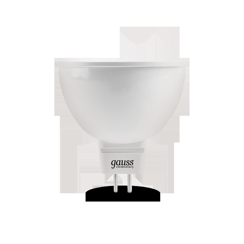 Светодиодная лампа Gauss Elementary 13527 MR16 GU5.3 7W, 4100K (холодный) CRI>80 150-265V, гарантия 2 года - фото 2