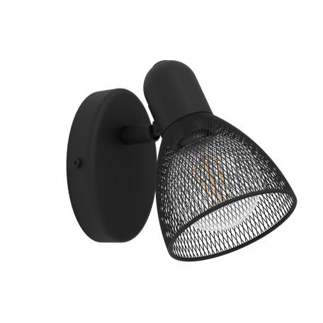 Настенный светильник с регулировкой направления света Eglo Carovigno 98621, 1xE14x40W, черный, металл