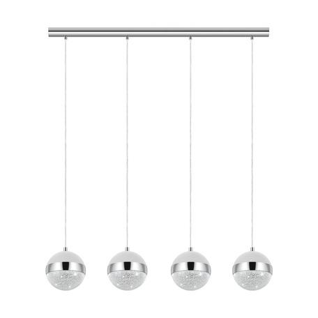 Подвесной светильник Eglo Licoroto 98557, 4xG9x3W, хром, белый, металл, стекло