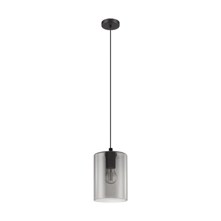 Подвесной светильник Eglo Cadaques 1 98585, 1xE27x40W, черный, дымчатый, металл, стекло