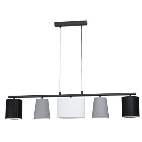 Подвесной светильник Eglo Almeida 1 98588, 5xE14x25W, черный, серый, металл, текстиль