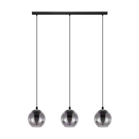 Подвесной светильник Eglo Ariscani 98652, 3xE27x40W, черный, дымчатый, металл, стекло