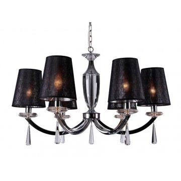 Основание подвесной люстры Newport 3240 3246/C без абажуров (М0056874), 6xE14x60W, прозрачный, хром, металл, стекло, хрусталь