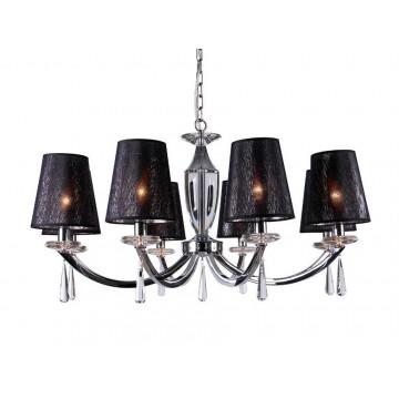 Основание подвесной люстры Newport 3240 3248/C без абажуров (М0056876), 8xE14x60W, прозрачный, хром, металл, стекло, хрусталь